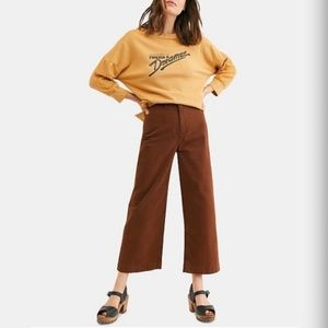 FREE PEOPLE Patti Crop Pant in Cocoa Brown Size 28